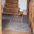 Entrance flagstone floor