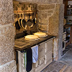 Giant aga granite fireplace