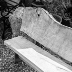 Hand crafted oak bench